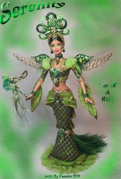 Barbie Fairy Angel Emerald Peridot Collector Doll Altered OOAK Custom PASSION   eBay