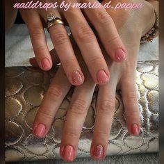 #manicure #nudenails #glitternails