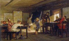 Mikhail Nesterov - Exam in a Rural School 1884