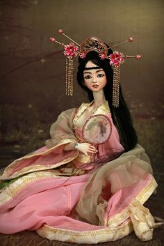 Aiko, Liang and Huan . Fine Art BJD Dolls inspired in the Chinese Tang Dynasty http://www.Forgotten-Hearts.com