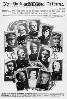 May 30, 1900: Memorial day this year finds sixteen veterans of the Civil War still on the active list of U.S. Army officers (LOC)