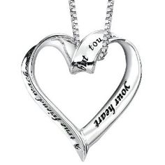 "sterling silver ""a true friend reaches for your hand but touches your heart""  pendant"