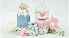 Decoupage Jars, Christmas Projects, Diy Tutorial, Reuse, Fun Crafts, The Creator, Glass, Home Decor, Youtube