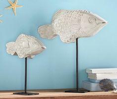 Objekt Fischschwarm Metall Deko Fisch Maritime Deko Skulptur Mediterran Wand