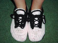 Ravelry: Crocheted Sneaker Slippers pattern by Sue Norrad