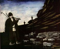 TICMUSart: Shepherd with Flock - Niko Pirosmani (I.M.)