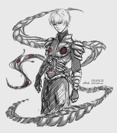 "aka707: "" ~i know its not his official kagune design. But i really liked drawing the last one for Furuta. This doodle started with a kagune and then Kaneki appeared. ^^ """
