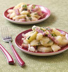 Salade auvergnate de pommes de terre aux lardons et cantal