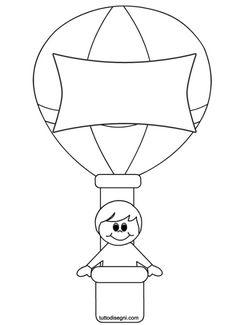 bambino-mongolfiera-disegni-bambini Air Ballon, Hot Air Balloon, Free Printable Coloring Pages, Coloring Pages For Kids, Balloon Crafts Preschool, Transportation Crafts, Quiet Book Templates, Baby Room Diy, School Clipart