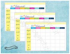 """Refill """"planner dei pasti"""", tema arcobaleno  #refill #planner #filofax"""