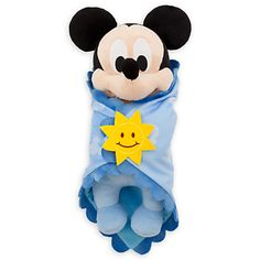 Disney's Babies Mickey Mouse Plush Doll and Blanket - Small - 10''