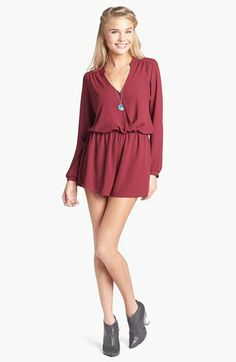 Rompers all-year long! Lush Long Sleeve Romper (Juniors) available at #Nordstrom