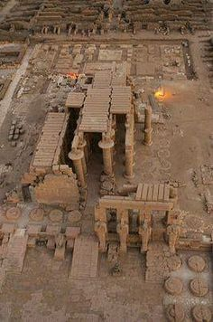 The Ramesseum on the western bank in Luxor