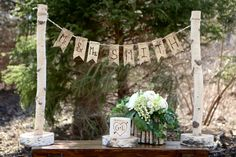Birch Banner Mr and Mrs Wedding Sign Rustic Barn Reception Decor Gift Table Decor Wedding Banner Birch Sign