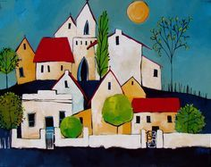 Artwork of Glendine exhibited at Robertson Art Gallery. Original art of more than 60 top South African Artists - Since South African Artists, Diy Artwork, Naive Art, Easy Paintings, Whimsical Art, Fabric Painting, Painting Inspiration, Collage Art, Amazing Art