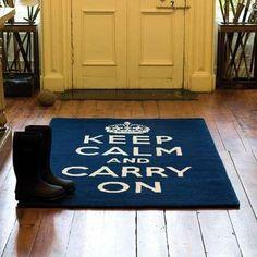 Keep Calm and Carry On Rug