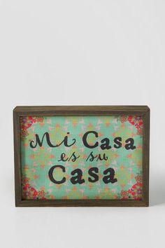 Mi Casa Mini Wall Sign $18.00