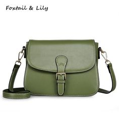 34.88$  Watch now - http://aliyl4.shopchina.info/1/go.php?t=32807461027 - Foxtail & Lily Ladies Fashionable Small Bags Genuine Leather Shoulder Bag Women Messenger Bags Crossbody Summer New Korea Style  #aliexpress