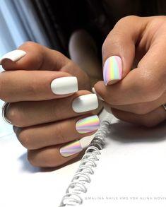 Decorated nail polish fashionable colors of enamel Nails Polish, Matte Nails, Cute Acrylic Nails, Acrylic Nail Designs, Get Nails, Hair And Nails, Nail Swag, Nagel Gel, Stylish Nails