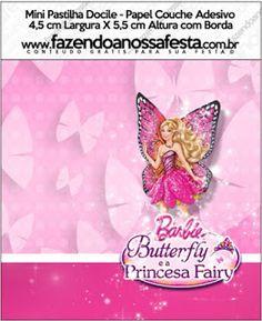 Barbie ve Kelebek Temalı Ücretsiz Parti Seti - Neşeli Süs Evim - Ücretsiz Doğum Günü Süsleri Mini, Fairy, Butterfly, Stickers, Fiestas, Butterflies, Angel