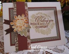 Huntington paper pack, bronze shimmer trim (Z1849) & Happy Autumn stamp set (D1550)   Pattern #22 from the new Make It From Your Heart Vol 2 - Greetings from Gail