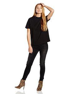Vero Moda Women's Damla Short Sleeve T-Shirt Size 10, Amazon, Medium, Sleeve, T Shirt, Black, Tops, Women, Art