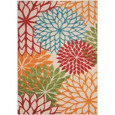 Nourison Aloha Red/Blue/Green Indoor/Outdoor Area Rug