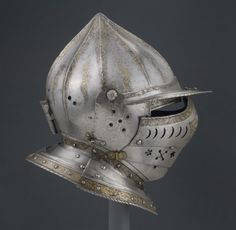 Burgonet with Falling Buffe (facial defense) Possibly made in southern Germany or Austria Date: 1543 Philadelphia Museum of Art