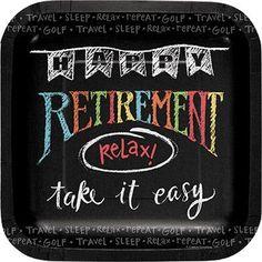 Happy Retirement Plates