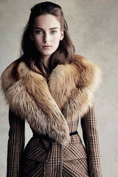 Julia Bergshoeff wears the 'Claypoole' Coat in the September issue of VOGUE Germany.