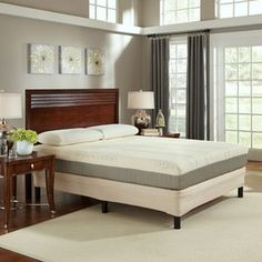 "Sleep Science 9"" Natural Latex Cal King Mattress with Foundation"