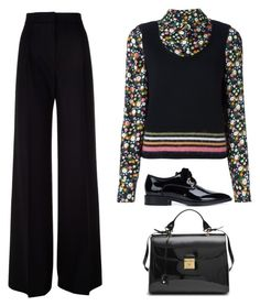 """Black Shoe, Black Bag"" by tinayar ❤ liked on Polyvore featuring Tory Burch, Marc Jacobs, MaxMara and Lanvin"
