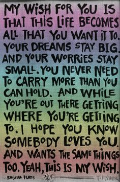 Rascal Flats - I used this song on the collage DVD I made for Will's graduation.  sniff, sniff, it makes me cry!