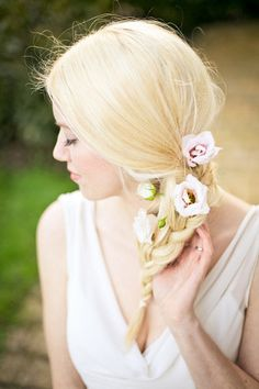 Braided #wedding hair ideas: http://www.weddingandweddingflowers.co.uk/article/1062/braided-and-plaited-hair-ideas-for-your-wedding-day