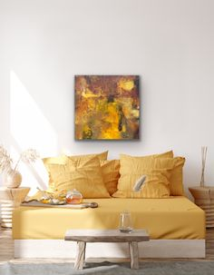 """'There is a Light I', oil painting on birch panel, 36"""" x 36"""" x 1.5"""", available for purchase. #abstractart #abstractpainting #abstractlandscape #artgallery #oilpainting Abstract Landscape, Abstract Art, Birch, This Is Us, Oil, Interior Design, Lighting, Painting, Furniture"""