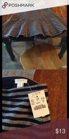 Skirt new J Crew Striped  Skirt Sz 10 J. Crew Skirts Mini