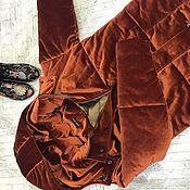 Одежда ручной работы. Ярмарка Мастеров - ручная работа Пуховик бархатный amber. Handmade.