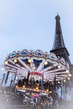 Paris, Eiffel Tower and Carousel