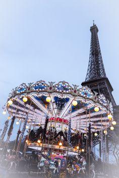 Paris, Eiffel Tower and Carousel
