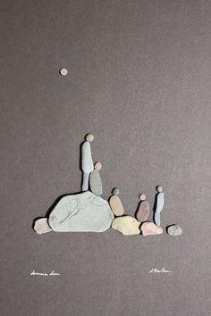 Pebble Art of Nova Scotia, by Sharon Nowlan. Pebble Art of Nova Scotia, by Sharon Nowlan. Pebble Stone, Pebble Art, Stone Art, Stone Crafts, Rock Crafts, Diy Crafts, Pebble Pictures, Rock And Pebbles, Sea Glass Art