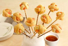 Good - Pepperidge Farm® Puff Pastry: Citrus Salmon Lollipuffs Made a little bigger as a main dish Pepperidge Farm Puff Pastry, Puff Pastry Recipes, Puff Pastries, Puff Pastry Sheets, Holiday Appetizers, Elegant Appetizers, Le Diner, Cake Pops, Cooking Recipes