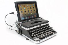 neo-steampunk typewriter keyboard