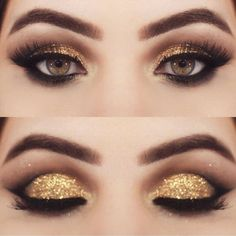 Gold Eyeshadow | Colorful Eyeshadow Tutorials For Brown Eyes