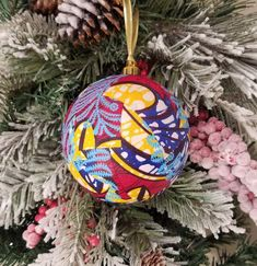 African Ankara Fabric Holiday Ornaments (Red and Blue)…great for Christmas or Kwanzaa Decorations Christmas Baubles, Holiday Ornaments, Christmas Decorations, Holiday Decorating, Kwanzaa, Ankara Fabric, African Fabric, Bowl Fillers, Ball Ornaments