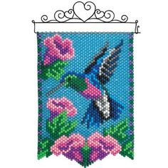 Herrschners® Majestic Flight Beaded Banner Kit - Travel tips - Travel tour - travel ideas Pony Bead Patterns, Bead Embroidery Patterns, Peyote Patterns, Loom Patterns, Beaded Embroidery, Beading Patterns, Pony Bead Projects, Pony Bead Crafts, Beaded Crafts