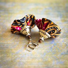 Dangle fiber multicolored earrings, orange, blue,pink, green, colorful, boho jewelry, fiber beads, hippy, gypsy, ethnic, fiber bell