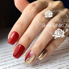 - Best ideas for decoration and makeup - Red Nail Art, Red Acrylic Nails, Pink Nails, Elegant Nails, Stylish Nails, Colorful Nail Designs, Nail Art Designs, Christmas Gel Nails, Diy Christmas