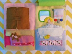 Dollhouse Quiet Book (bedroom and bathroom)