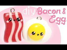 Kawaii Egg & Bacon Polymer Clay Charm Tutorial