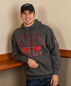 Zach Parise in our #mnwild Heritage Hooded Sweatshirt - It's no secret that I love him! :)